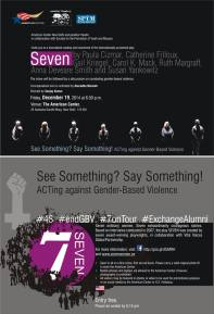 Flyer - New Delhi tour for See Something? Say Something!